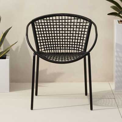 sophia black dining chair - CB2