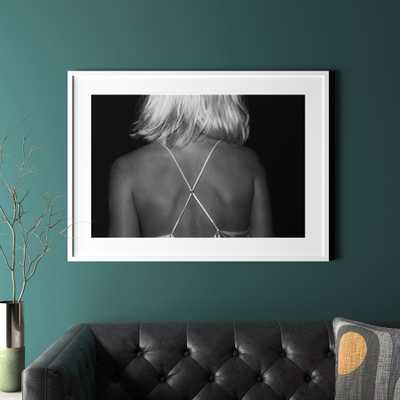 """x with white frame 41.5""""x30.25"""""" - CB2"