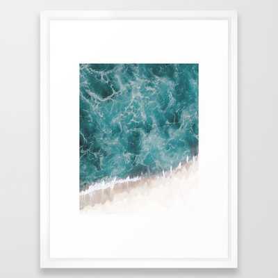 "Ocean waves - FRAMED ART PRINT VECTOR WHITE MEDIUM (GALLERY) 20""x26"" - Society6"