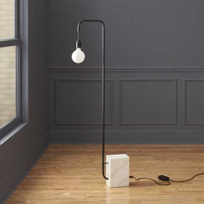marble floor lamp - CB2