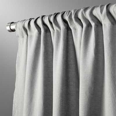 """graphite linen curtain panel 48""""x108"""""" - CB2"