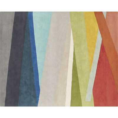 banded multicolor stripe rug 8'x10' - CB2