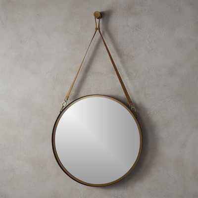 "victor leather 24"" mirror - CB2"