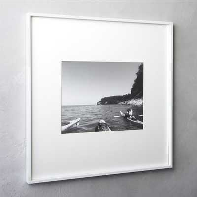 gallery white 11x14 picture frame - CB2