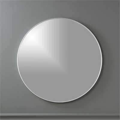 """infinity 24"""" round wall mirror"" - CB2"