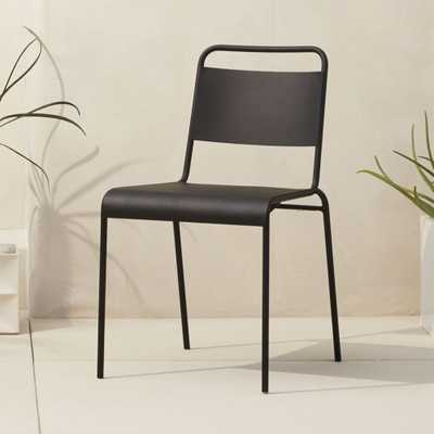 lucinda black stacking chair - CB2