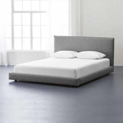 façade grey king bed - CB2