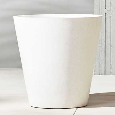 shore wide polyterrazzo planter - CB2