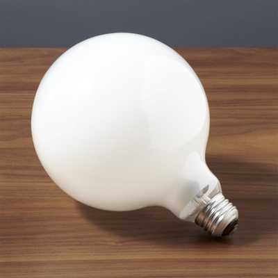 g40 large globe 60W light bulb - CB2