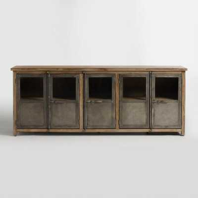 Large Wood And Metal Langley Storage Cabinet - World Market/Cost Plus