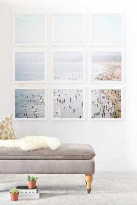 LA SUMMER- 4' x 4'(Nine 16 '' frameds )- Basic white frame- No mat - Wander Print Co.