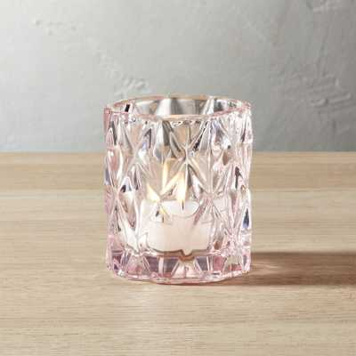 betty pink tea light candle holder, Individual - CB2