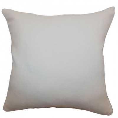 """Portia Solid Pillow Creme - 20"""" x 20"""" - Down Insert - Linen & Seam"""