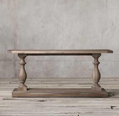 "17TH C. MONASTERY CONSOLE TABLE, Grey Acacia, 48""w - RH"
