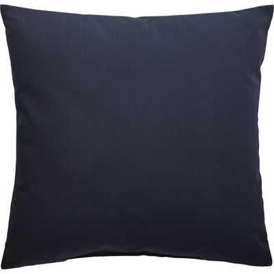 "20"" navy outdoor pillow - CB2"