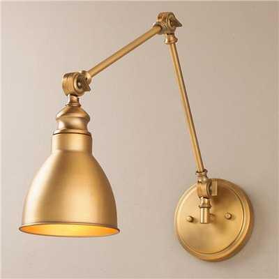 Adjustable Arm 1-Light Wall Sconce - Shades of Light