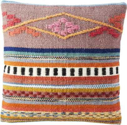 "cusco pillow with down-alternative insert / 16"" x 16"" - CB2"