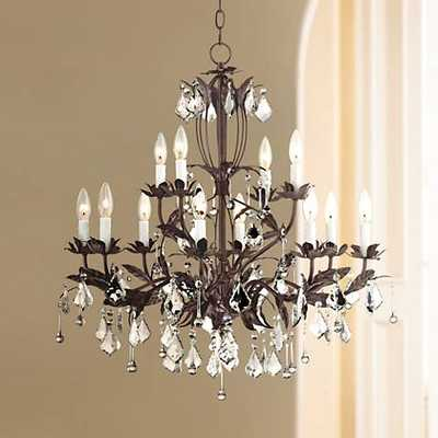 "Kathy Ireland Venezia 12-Light 28"" Wide Bronze Chandelier - Lamps Plus"
