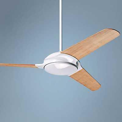 """52"""" Modern Fan Flow Bamboo - Gloss White Ceiling Fan - Lamps Plus"""