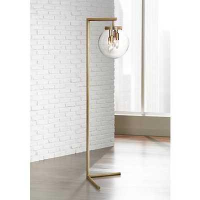 Zoltar Antique Brass Floor Lamp by Robert Abbey - Lamps Plus