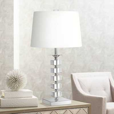 Stacked Cubes Crystal Table Lamp - Lamps Plus