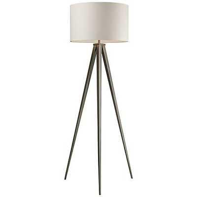 Dimond Salford Satin Nickel Tripod Floor Lamp - Lamps Plus