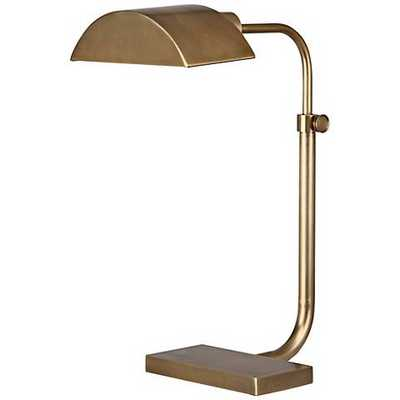 Robert Abbey Koleman Aged Natural Brass Desk Lamp - Lamps Plus