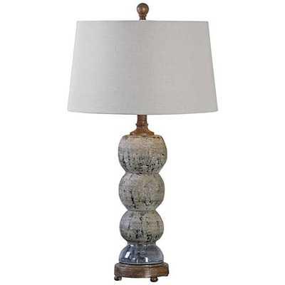 Uttermost Amelia Blue-Gray Textured Ceramic Table Lamp - Lamps Plus