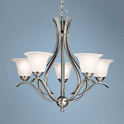 Dover Collection Brushed Nickel Five Light Chandelier - Lamps Plus