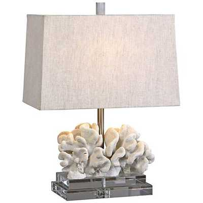 Uttermost Taupe Ivory Coral Table Lamp - Lamps Plus