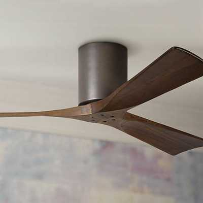 "52"" Matthews Irene 3-Blade Walnut-Bronze Hugger Ceiling Fan - Lamps Plus"