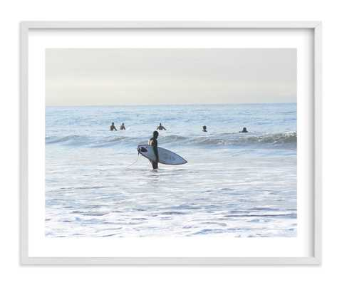 "Early Morning Surfer, Venice Beach - 20"" x 16"" - Minted"