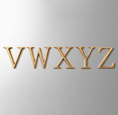 ANTIQUED GILT WOOD LETTERS-W - RH Baby & Child