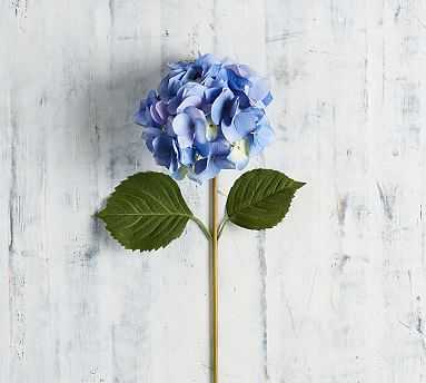 Faux Hydrangea Stem, Blue - Pottery Barn