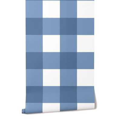 GRANDE CHECK IN FRENCH BLUE - Caitlin Wilson