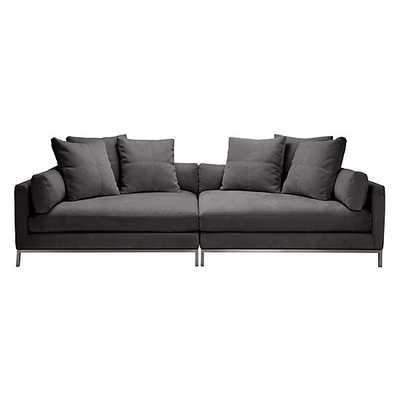 Ventura 2 PC Extra Deep Sofa [Fabric : Opulent Seal] - Z Gallerie