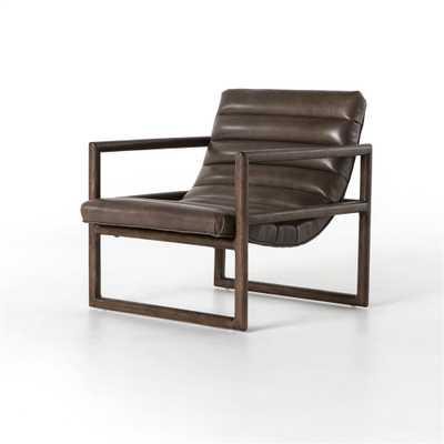 Fitz Leather Chair, Dakota Fossil - High Fashion Home