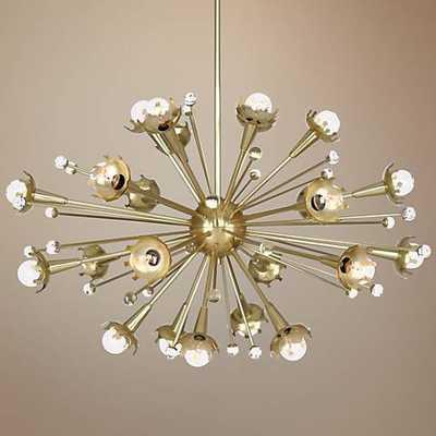 Jonathan Adler Sputnik 24-Light Antique Brass Chandelier - Lamps Plus
