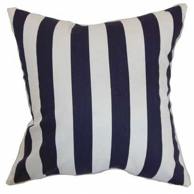 Ilaam Stripes Pillow Blue - 20x20 - Linen & Seam