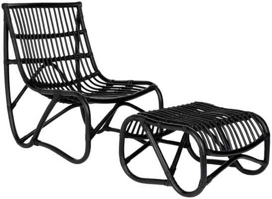Laholm Chair and Ottoman Set - Haldin