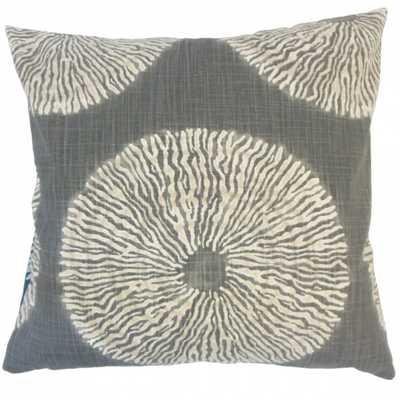 """Talmai Ikat Pillow Greystone - 20"""" x 20"""" - Polyester pillow insert - Linen & Seam"""