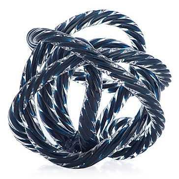 Glass Knot - Sapphire - Z Gallerie