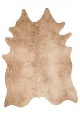 BRIGHTON FAUX COWHIDE RUG, CARMEL - Lulu and Georgia