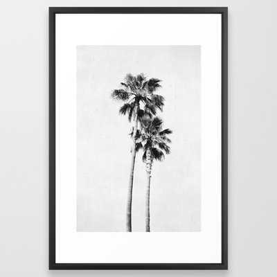 Palms Framed Art Print - Vector Black Frame - Society6