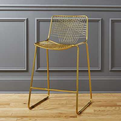 """alpha brass 24"""" counter stool"" - CB2"