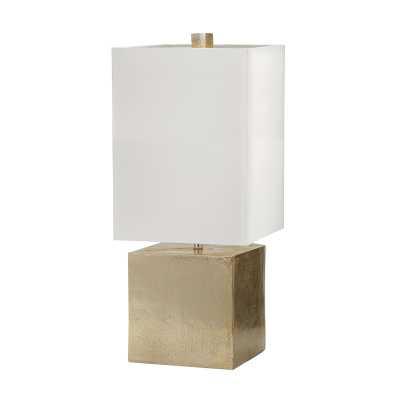 Cement Cube Lamp GOLD - Rosen Studio