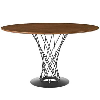 CYCLONE ROUND WOOD TOP DINING TABLE IN WALNUT - Modway Furniture