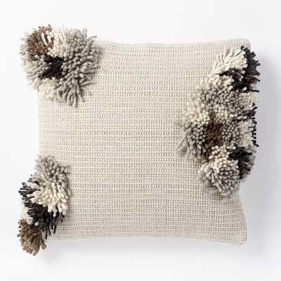 Cluster Pom Pom Pillow Cover - West Elm