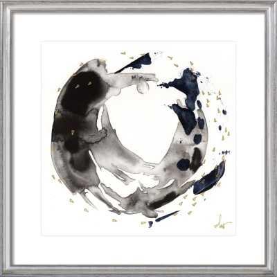 """8/7. 7. - 24"""" x 24"""" - Silver Leaf Wood frame - Artfully Walls"""