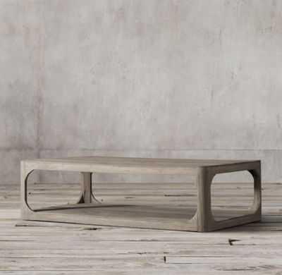 "Martens Rectangular Coffee Table - 55"", Aged Elm - RH"